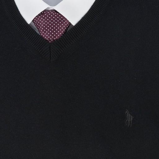 Sweter męski czarny SW018 XXL 10006661199 Odzież Męska Swetry FD CDABFD-3