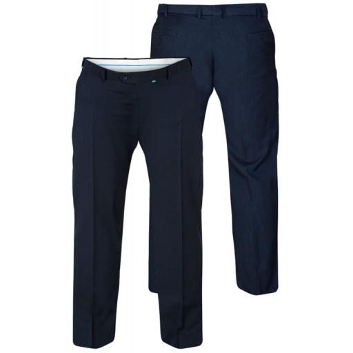 Spodnie w kant wizytowe W50 L34 128 duże rozmiary 10041727865 Odzież Męska Spodnie XS GVPGXS-5