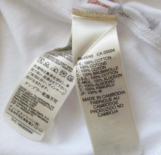 DIESEL T-DIEGO-FO CAMOUFLAGE T_SHIRT * L 10721805942 Odzież Męska T-shirty YJ PPISYJ-5
