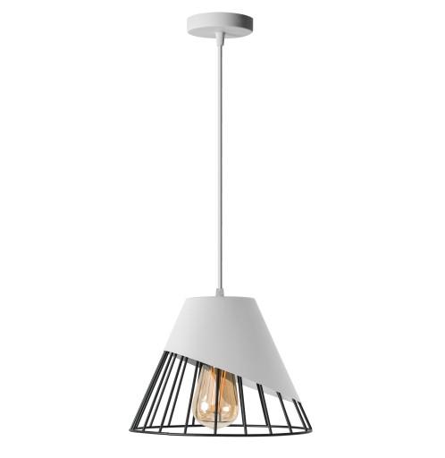 LAMPA SUFITOWA WISZĄCA KLOSZ METAL KOLORY LED