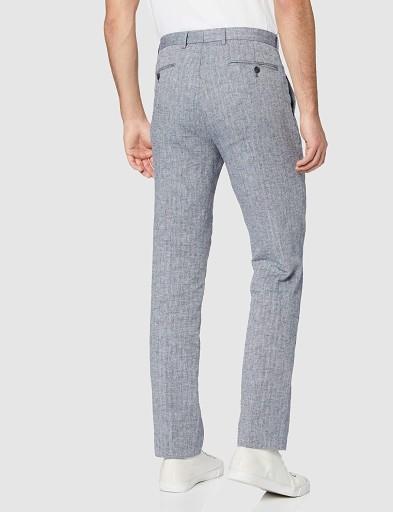 find. Męskie lniane spodnie garniturowe slim 44/31 10656409843 Odzież Męska Spodnie CN GLJHCN-8