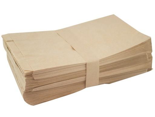 Torebki Papierowe Torby Śniadaniowe 15x6x29 100szt