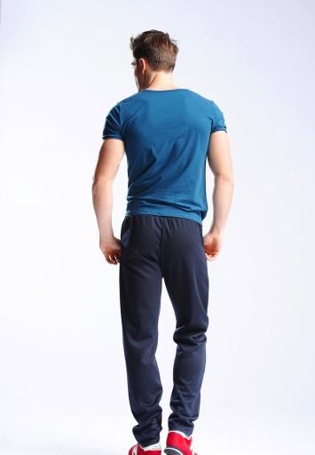Duże Spodnie Dresowe Męskie Dresy 0668 5XL Granat 10490364758 Odzież Męska Spodnie CX TGWFCX-8