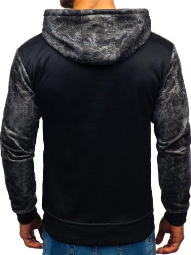 BLUZA MĘSKA Z KAPTUREM CZARNA 11060 DENLEY_XL 8696268891 Bluzy Męskie Bluzy NY ATCBNY-8