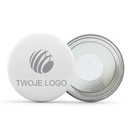 Magnesy okrągłe reklamowe z logo firmy