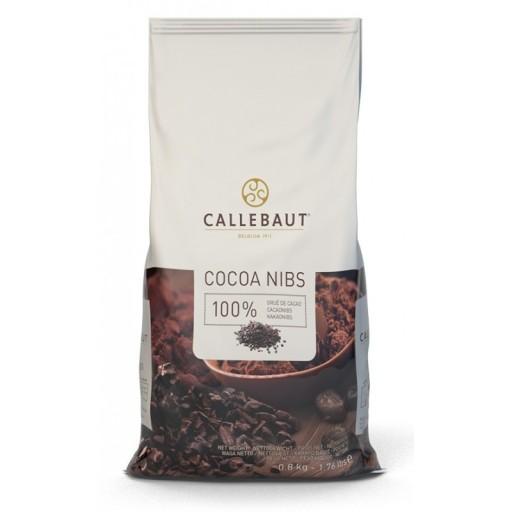 Callebaut prażone i kruszone ziarno kakaowe 800g