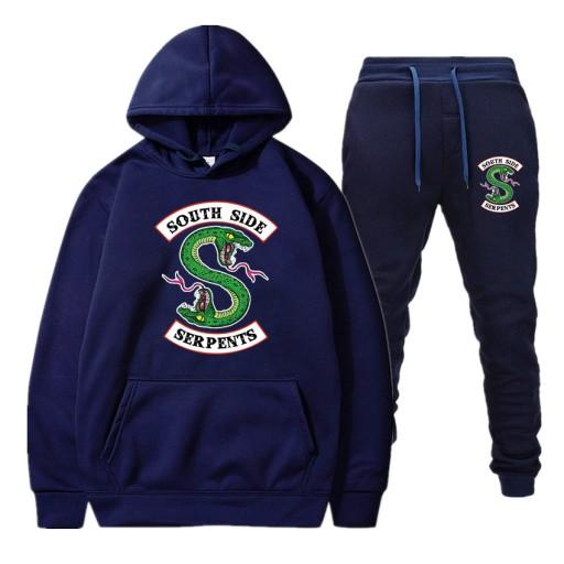 owy garnitur z kapturem męski sweter Sweter męski 10635345176 Odzież Męska Swetry BG LBALBG-5