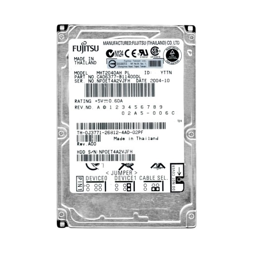 Fujitsu 40gb 5 4k 4mb Ata 2 5 X27 X27 Mht2040ah Pl Dyski I Pamieci Przenosne Allegro Pl