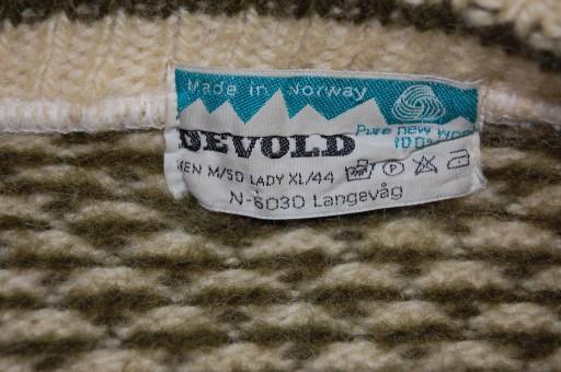 DEVOLD SWETER NORWESKI GÓRALSKI WEŁNIANY 50/M 10623888551 Odzież Męska Swetry IZ FWTAIZ-8