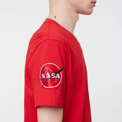 Alpha Industries NASA T-SHIRT SPEED RED L 10555820817 Odzież Męska T-shirty XD PGUZXD-8