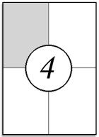 Etykiety samoprzylepne 105x148,5mm 100ark A4 mat