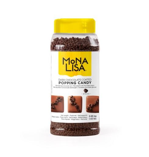 Strzelająca ciemna czekoladowa posypka Mona Lisa