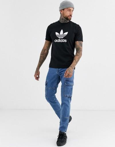 ADIDAS ORIGINALS T-SHIRT MĘSKI CZARNY LOGO M ZAB 10779893998 Odzież Męska T-shirty OF HNUXOF-5