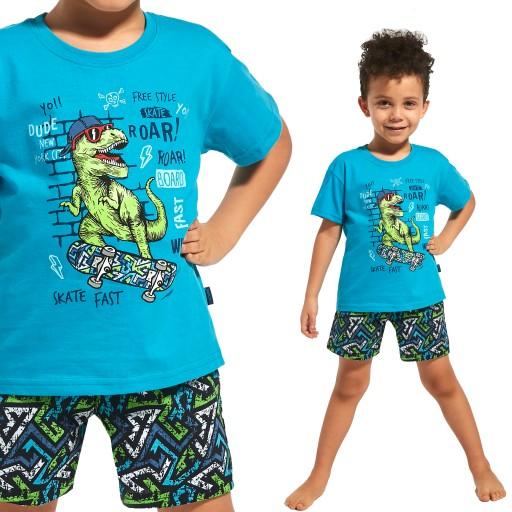 Piżama chłopięca Cornette krótki rękaw wzorzysta