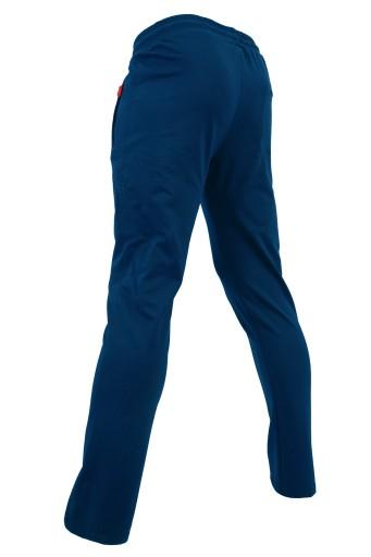 SPODNIE DRESOWE PROSTE CIENKIE NIEBIESKIE XXL 10662739076 Odzież Męska Spodnie UI ULDFUI-1
