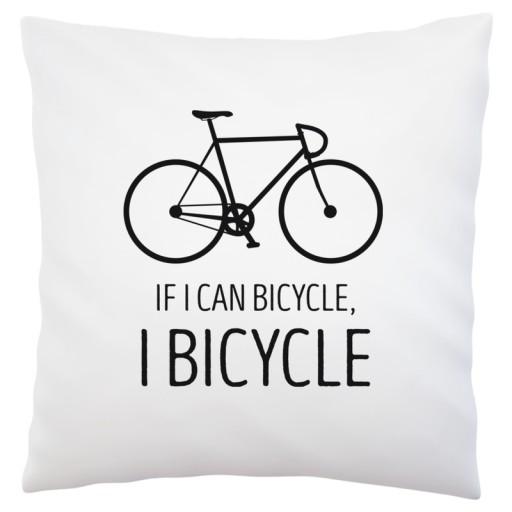 Rower rowerzysta prezent poduszka