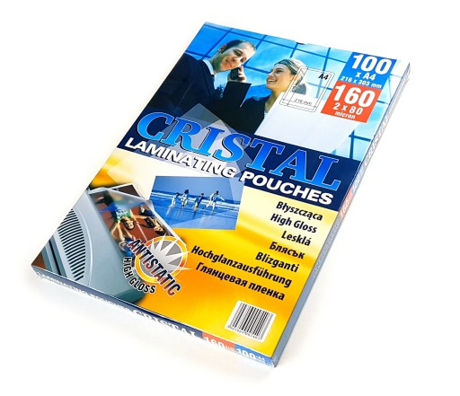 FOLIA DO LAMINOWANIA LAMINACYJNA A4 80 MIC 100ark
