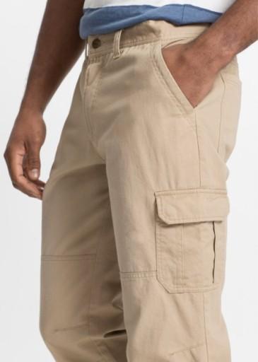 BONPRIX spodnie męskie 3/4 bpc collection r 60 10560113653 Odzież Męska Spodnie IH KFBSIH-5