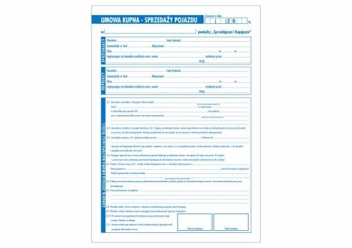 Umowa Kupna Sprzedazy Pojazdu Druk Tanio Najtaniej 9175586334 Allegro Pl