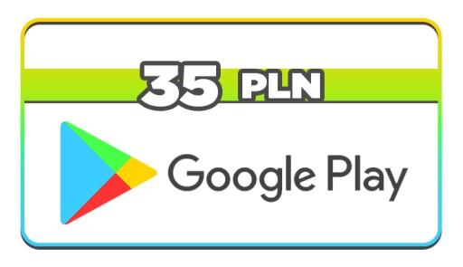 Google Play 35 Pln Zl Kod Pin Karta Podarunkowa 9529639905 Allegro Pl