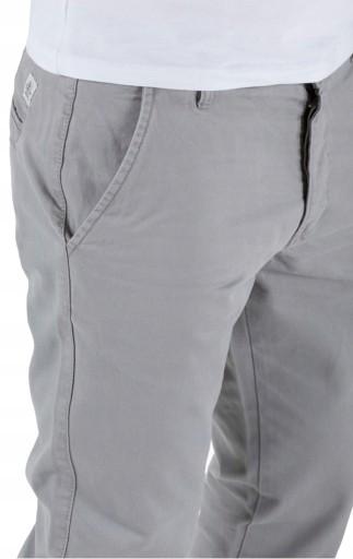Jack Jones REGULARNE klasyczne SZARE chinosy 33/34 10578598364 Odzież Męska Spodnie AK TTTUAK-2