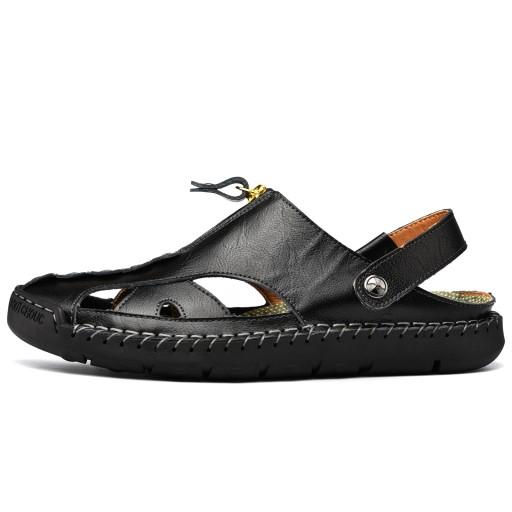 Męskie sandały SkÓrzane buty z zamkniętymi palcami 10805283591 Obuwie Męskie Męskie JV BAAHJV-4
