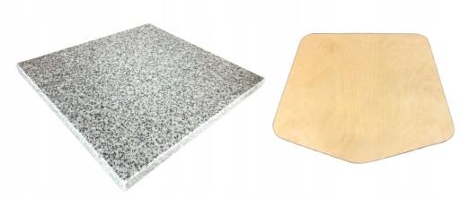 NATURALNY Kamień do pizzy 37x33 2w1 + ŁOPATKA