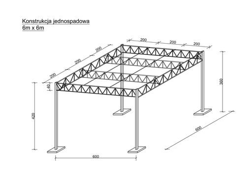 Konstrukcja Stalowa 6x6 Wiata Hala Garaz Magazyn Z 9964618374 Allegro Pl