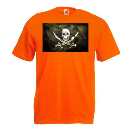 Koszulka z nadrukiem flaga piracka Jolly Roger XXL 10518779529 Odzież Męska T-shirty PJ KHYNPJ-8