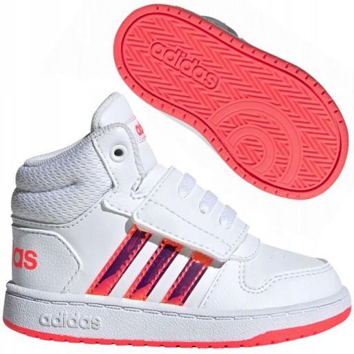 Fw7609 Dzieciece Buty Adidas Hoops Mid Za Kostke 9783215934 Allegro Pl