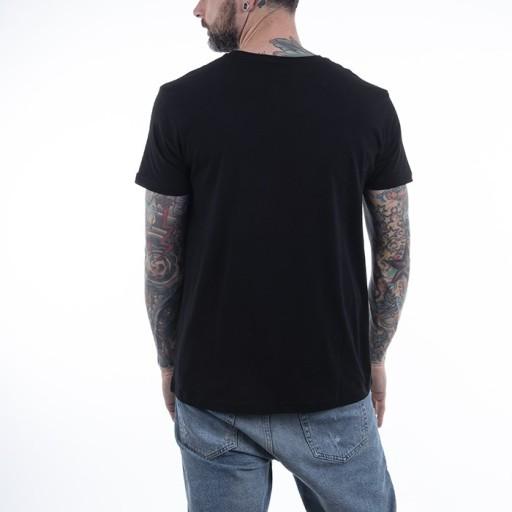 Alpha Industries Basic T-Shirt Foil Print Black/Si 10675371448 Odzież Męska T-shirty SI ATVJSI-5