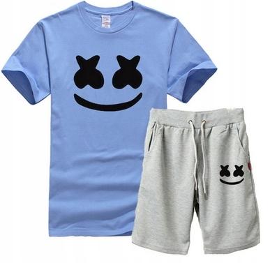 Męski Letni Komplet Marshmello Spodenki + T-shirt 9453025660 Odzież Męska Komplety DW FFSQDW-6
