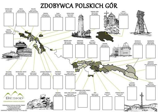 """Plakat """"Zdobywca Polskich Gór"""""""