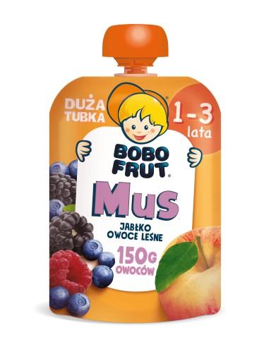 BOBO FRUT mus w tubce jabłko owoce leśne 150g