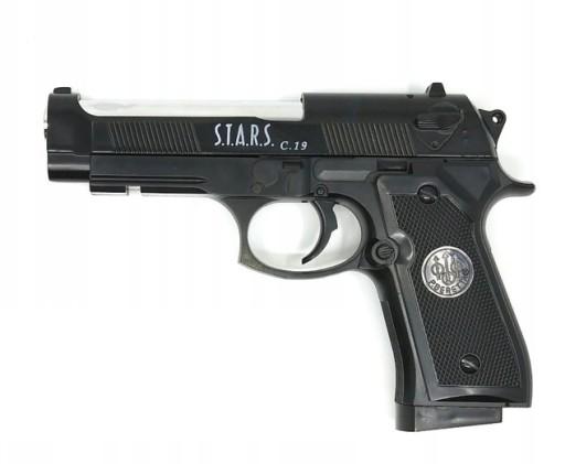 Pistolet Metalowy Beretta C 19 Wiatrowka Kulki 6mm 8807093176 Allegro Pl