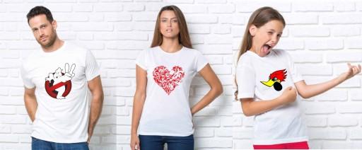 KOSZULKI Z WŁASNYM NADRUKIEM, TEKSTEM, ZDJĘCIEM!!! 10775539186 Odzież Męska T-shirty OK JXRROK-9