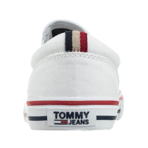 Tenisówki Męskie Tommy Hilfiger EM0EM00002 Białe 8371558105