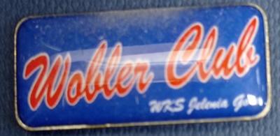 Odznaka wędkarska PZW Wobler Club WKS Jelenia Góra
