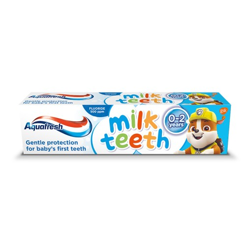 Aquafresh Milk Teeth Psi Patrol pasta do zębów 0-2
