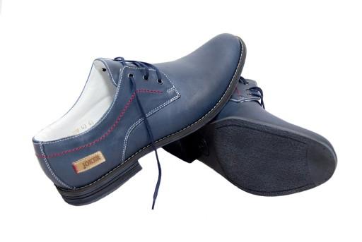 HIT! Eleganckie buty męskie skÓra blue dobrebutypl 10695819131 Obuwie Męskie Męskie DP DHEJDP-1