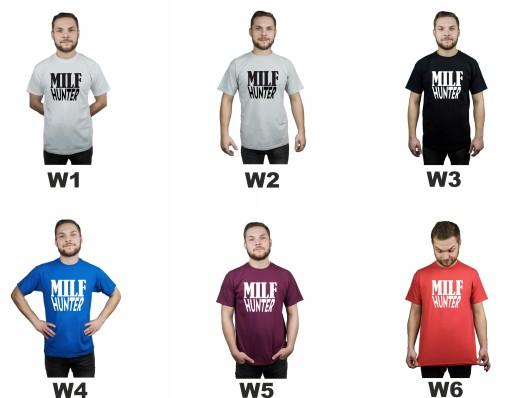 Koszulka męska MILF HUNTER PORNHUB XL 9731961431 Odzież Męska T-shirty GV RONUGV-5