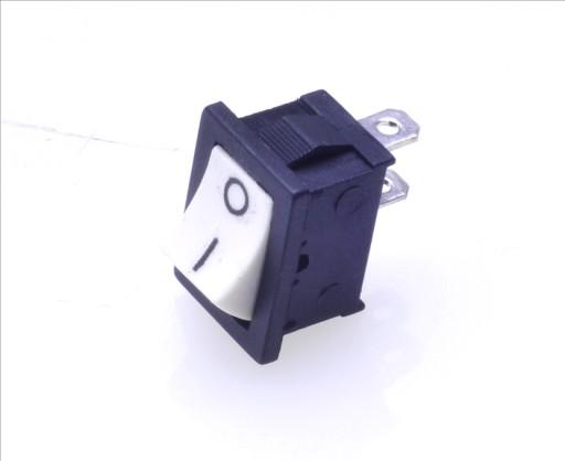 Włącznik kołyskowy mały 0-1 BIAŁO-CZARN 2pin/2poz