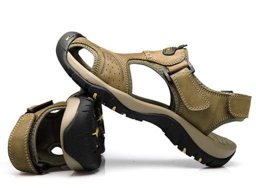 SkÓrzane Sandały Męskie Sandały turystyczne roz38 10789955168 Obuwie Męskie Męskie AZ KKAEAZ-2