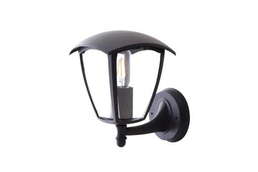 Lampa Kinkiet Ogrodowy Zewnętrzny CZARNY LED