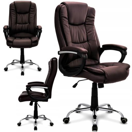FOTEL BIUROWY obrotowy krzesło biurowe MIĘKKI
