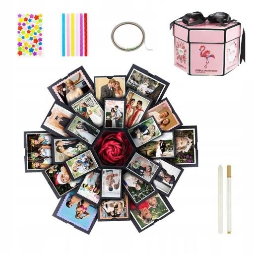 PUDEŁKO NIESPODZIANKA - Exploding Box Różowy Album
