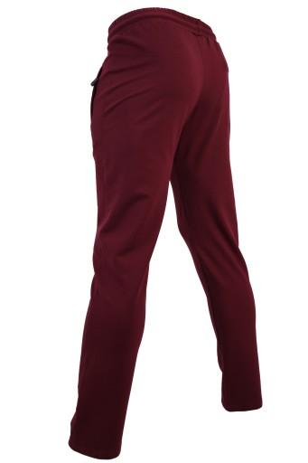 SPODNIE DRESOWE MĘSKIE PROSTE CIENKIE BORDOWE XXL 10732038154 Odzież Męska Spodnie IW RZOJIW-5