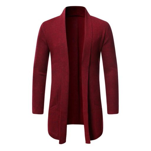 ianiny Sweter w jednolitym kolorze Dzianina męska 9814369201 Odzież Męska Swetry XZ UWBCXZ-4