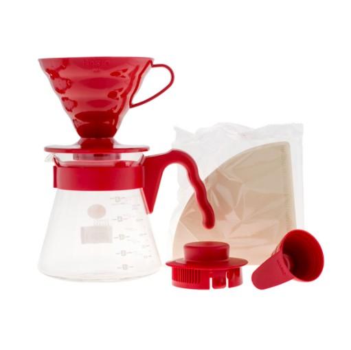 Zestaw do kawy Hario V60-02 drip + serwer + filtry