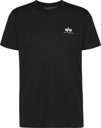 Alpha Industries SMALL LOGO T-SHIRT BLACK XL 10555824153 Odzież Męska T-shirty QI LSFJQI-9